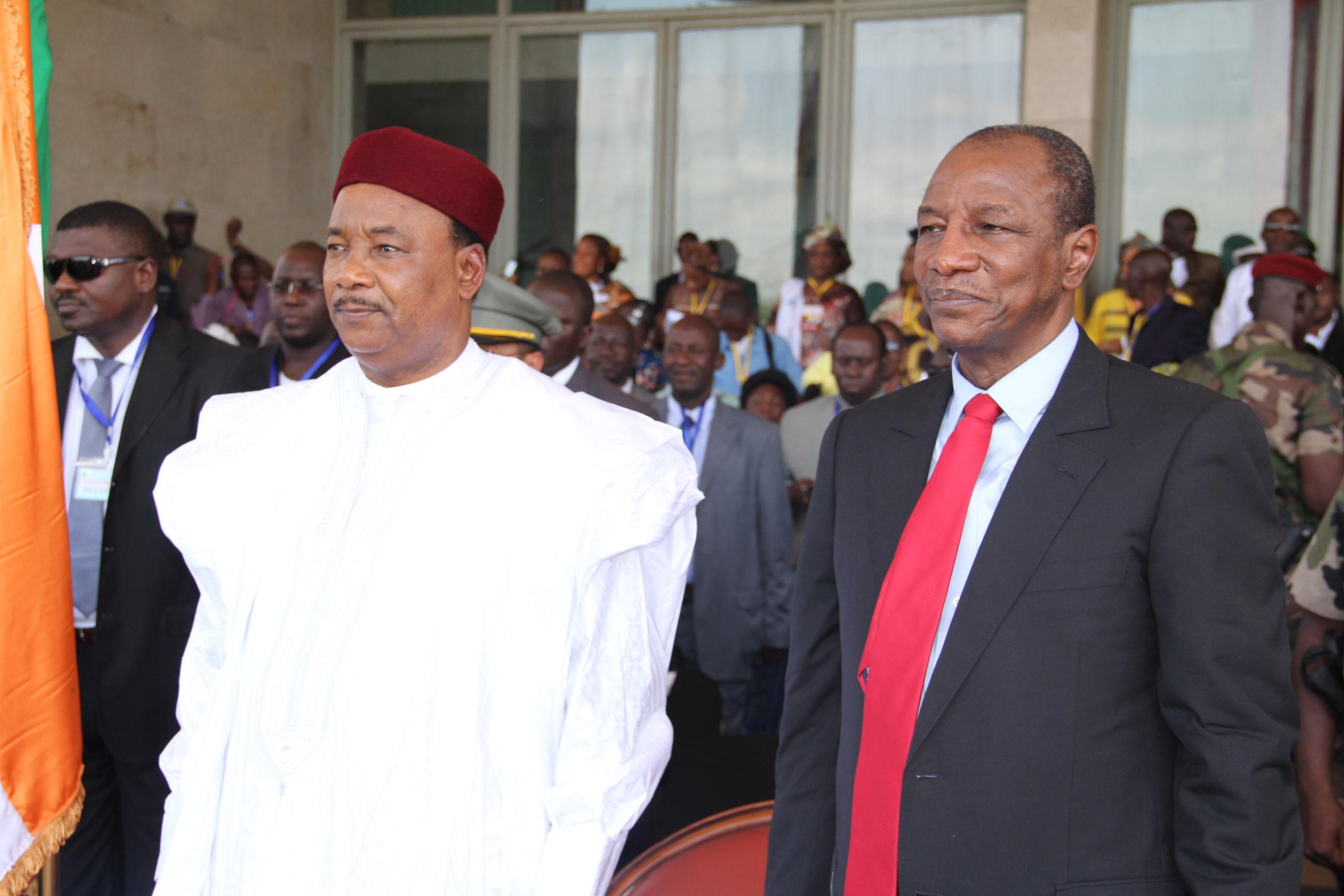 Le président Mohamadou Issoufou en visite en Guinée