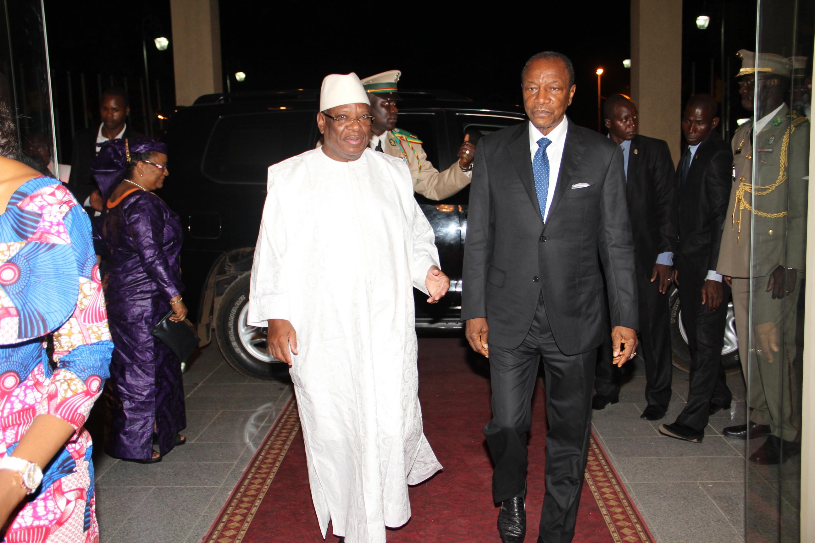 Le président malien IBK et Alpha Condé